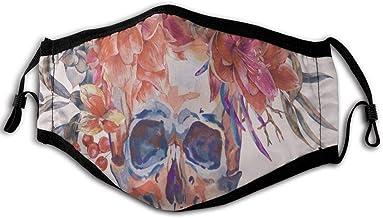 N/A stofmasker aquarel retro schedel zacht en comf...