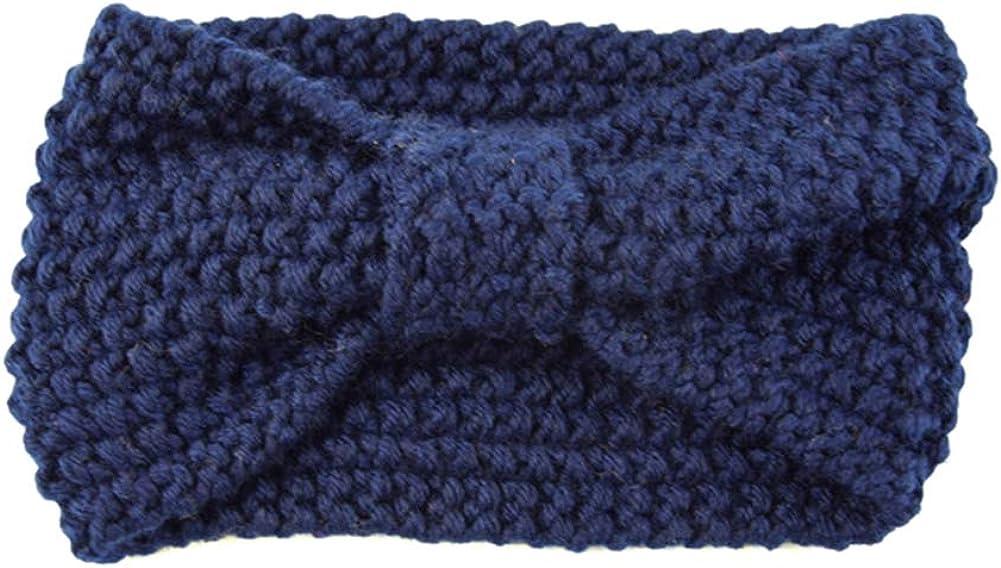 LeJulyeekay Women's Crochet Knot Headbands Warm Hair Wrap Winter Knit Ear Warmer