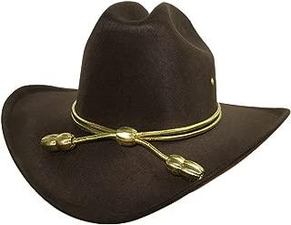 Child Boys Carl King County Sheriff Hat Brown Cowboy Zombie Hunter