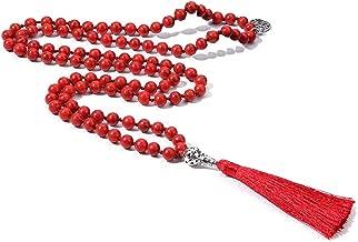 red mala beads