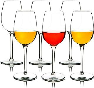 MICHLEY MICHLEY Unzerbrechliche Weingläser, 100% Tritan Kunststoff bruchsicher Weinbecher, BPA-frei, Spülmaschinenfest 360ml, 6er Set