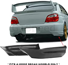 GTSpeed Made for 05-07 Subaru Impreza WRX STI ONLY Rear PU Bumper Guard Lip Add-on Spats Aprons (Will NOT fit Wagons / For 4-Door Sedans ONLY)
