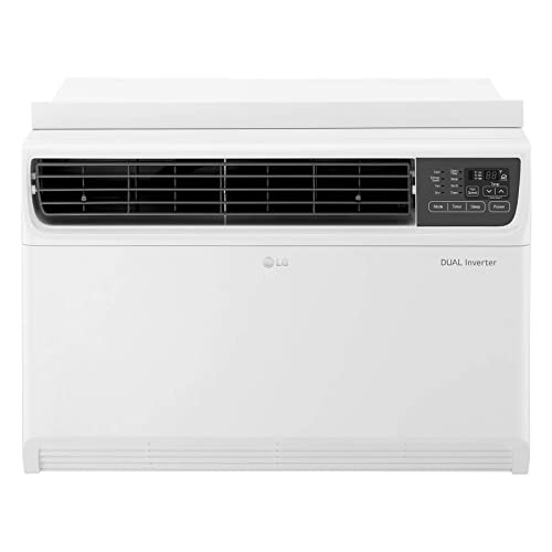 LG 18,000 BTU Dual Inverter Remote Control Window Air Conditioner White