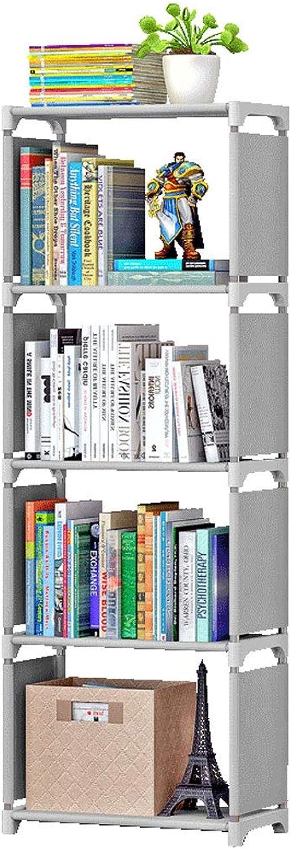 4 Tier Bookcase Garment Storage Shelves Bedroom Display Shelving Unit Shelves Organizer for Books(124x42x26)