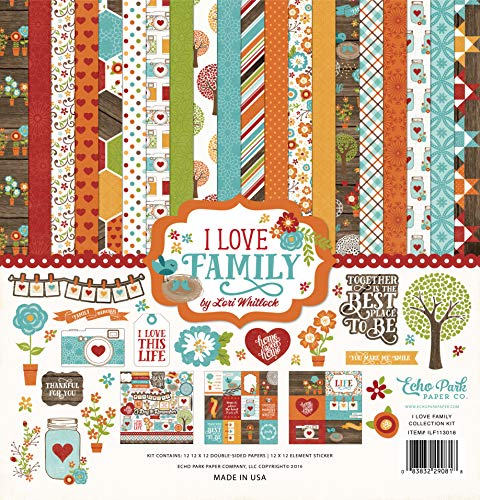 Echo Park Paper Company Love Family Collection Kit