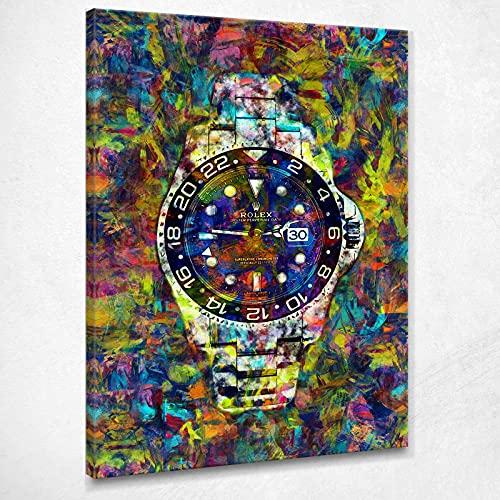 Quadro Rolex Luxury Watch Colorful Dream Quadro Motivazione Orologio Stampa su Tela Rl5 Alta qualità Certificata Fine Art Giclée, Fatto in Italia, 40x30 cm