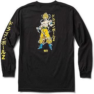 Primitive Skate x Dragon Ball Z Men's Super Saiyan Goku Long Sleeve T Shirt Black