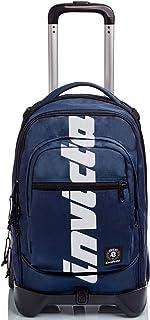 Trolley Backpack Invicta New Plug Plain Logo Blue