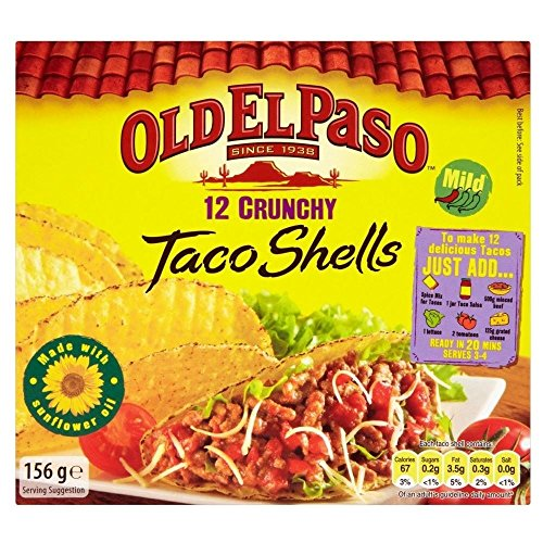 Coquilles Old El Paso Crunchy Taco (12 par paquet) - Paquet de 6