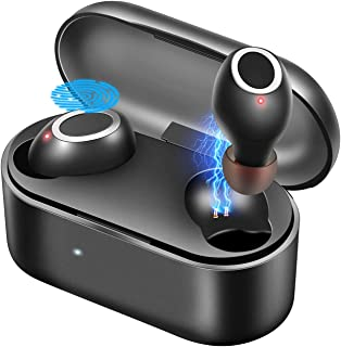 True Wireless Earbuds, Bluetooth 5.0 Sport Headphones Touch Control Auto Pairing, TWS Built-in Mic IPX5 Waterproof 3D Noise Canceling, Wireless Earphones 20H Playtime with Portable Charging Case