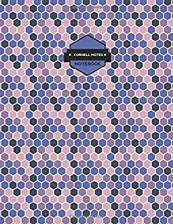 Cornell Notes Notebooks: Purple Mosaic Pattern Cornell Notes Paper (Science and Math Guided School Notebooks)