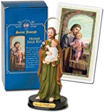 St Joseph Home Statue Seller Kit Laminated Holy Card & Legend of Saint Joseph