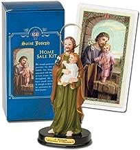 H. J. Sherman St Joseph Home Statue Seller Kit Laminated Holy Card & Legend of Saint Joseph