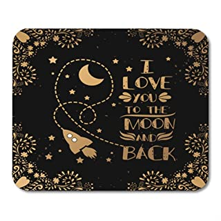 Yanteng Mouse Pads Gaming Mouse Pad Valentine S Day Card I Love You to The Moon Decor Office Nonslip Rubber Backing Mousep...