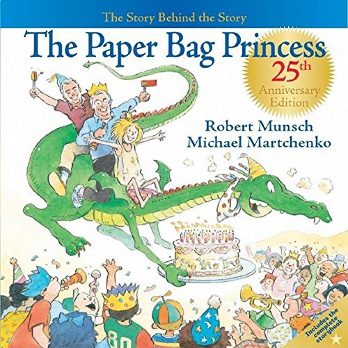 Paper bag princess book as traditional paper first year anniverary gift