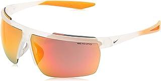 نظارة شمسية من نايك للرجال، لون برتقالي، 75 ملم، نايك حاجب الريح ام سي دبليو