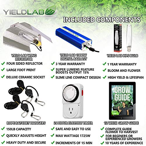 Yield Lab Horticulture 1000w HPS Grow Light