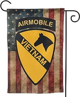 LEILEIflag 1st Cavalry Air Mobile Vietnam with USA Flag Home Flag Outdoor Flag Garden Flag