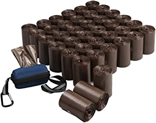 Morcte 40 Rolls, 1400 Strong Poop Bags, Dog Waste Bags with Dispenser, Brown