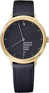Mondaine - Helvetica Light, Reloj de Cuero Negro para Hombre y Mujer, MH1.L2221.LB, 38 MM