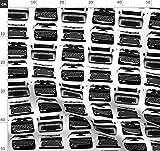 Schreibmaschine, Schwarz & Weiß, Retro Stoffe -