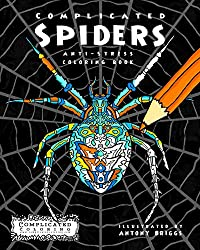 complicated spiders coloring book
