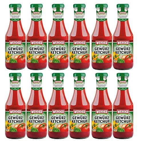 WERDER 12 x Gewürz Ketchup 450 ml