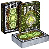 Bicycle Playing Cards Fireflies Design | Limited Edition Deck Pitch-Black with Glowing Effects