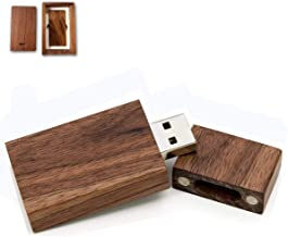 WQFStore 8GB USB 2.0 Wooden Originative USB Flashing Drive U Disk Rosewood Design : Maple Wood