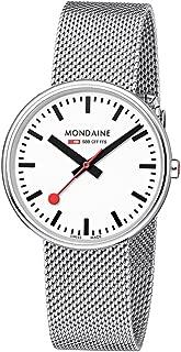 Mondaine Women's SBB Swiss-Quartz Watch with Stainless-Steel Strap, Silver (Model: MSX.3511B.SM)