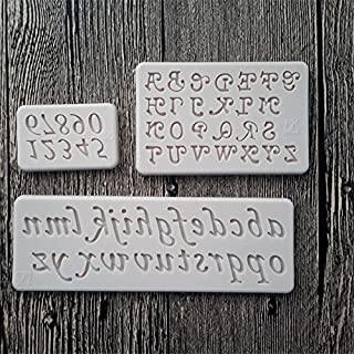 Letters and Numbers Silicone Mold Fondant Mould Cake Decorating Tools Chocolate Gumpaste Molds, Sugarcraft, Kitchen Gadgets Kangsanli