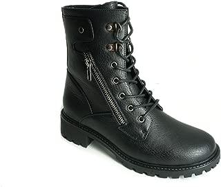 Lantina Womens Winter Classic Fashion PU Leather Boots