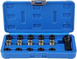 Sangmei Kit de ferramenta de reparo de rosca de vela de ignição de 16 unidades M16 M14 inserto de bobina roscada CV#