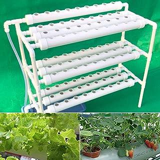 SHZICMY Kit de culture hydroponique en PVC - Système de culture hydroponique - Kit de culture hydroponique - 3 couches - 9...