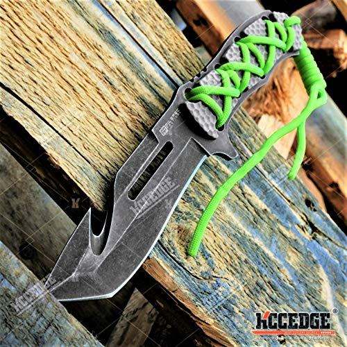 KCCEDGE BEST CUTLERY SOURCE Tactical Knife Hunting Knife Survival Knife Fixed Blade Knife Razor Sharp Edge Camping Accessories Camping Gear Survival Kit Survival Gear Tactical Gear 78913 (Gut Hook)