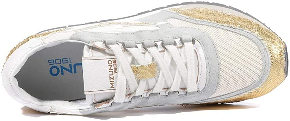 Mizuno Naos Femme Chaussures Gris Or Jaune