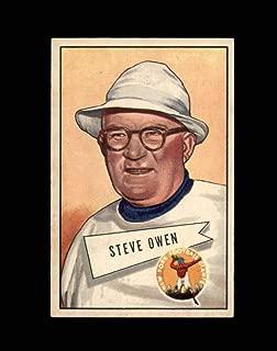 1952 Bowman Large Football #004 Steve Owen RC CO STARX 6 EX/MT CS52901