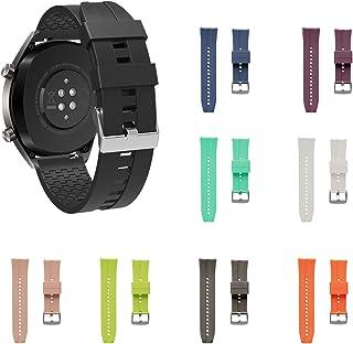 Samsung Gear S3 ve Huawei Watch Gt Gt2 Silikon Kordon Kayış - Kyver (Beyaz)