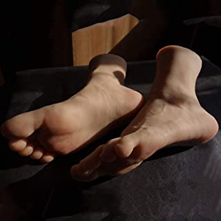 Mod/èle Pied Homme Pied TPE Mati/ère Mannequin Lifesize Faux Mod/èle Pied pour Chaussures Porte-Anckle Afficher mod/èle Art Sketch