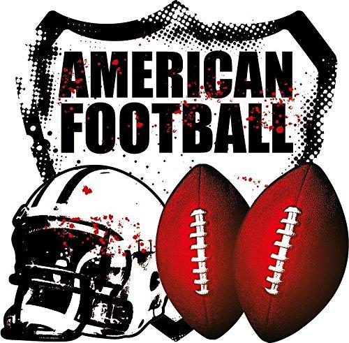 NFL American Football Helmet Balls Hochwertigen Auto-Autoaufkleber 12 x 12 cm