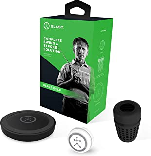 Blast Golf Swing Trainer, Analyzes Swing, Tracks Stroke Metrics, Video Capture Creates Highlights, App Enabled, iOS and Android Compatible, Golf Channel Academy Official Technology Partner (Renewed)