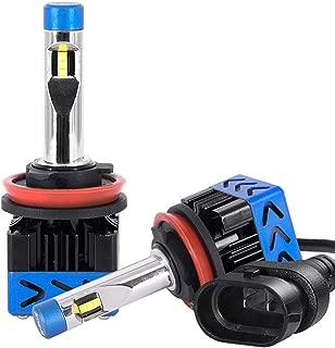 imoli H11 LED Headlight H8/H9 Bulbs Hi/Lo Beam Anti-flicker Car LED Headlamp Mini Conversion Kit CSP Chips 10000 LM/Pair 60W 6500K White Waterproof Plug&Play-2 Yr Warranty(2PCS)