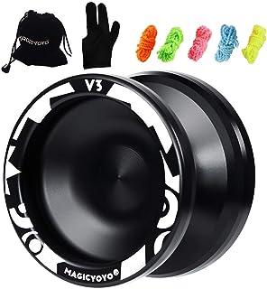 CHEE MONG Responsive Yoyo V3, MAGICYOYO Aluminum Yoyo Metal Yoyo for Kids Beginner + Glove + Bag + 5 Replacement Yoyo Strings