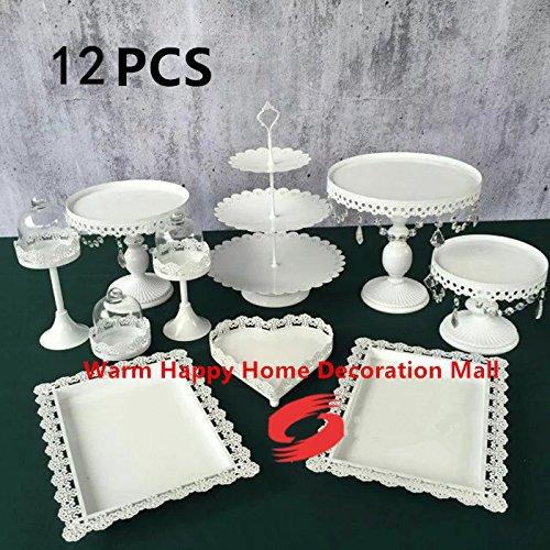HUFT - Soporte para tartas (12 piezas), color blanco y dorado