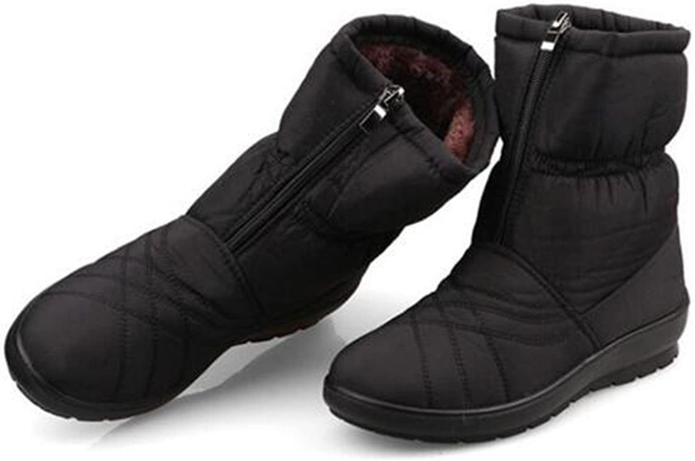 COVOYYAR Women Winter Waterproof Snow Boots Fashion Cotton Flat shoes