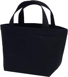 丸玉工業 トートバッグ 手提げ袋 厚手コットン Sサイズワイド 黒