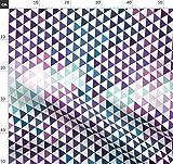 petrol, lila, geometrisch, abstrakt, aquamarin, Dreiecke,