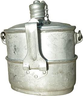PetriStor ソビエト連邦(USSR)製 実物 ソ連軍 ロシア軍 空挺作戦部隊 VDV ВДВ 兵士食事用 飯盒 2in1セット 1984年 金属製水筒