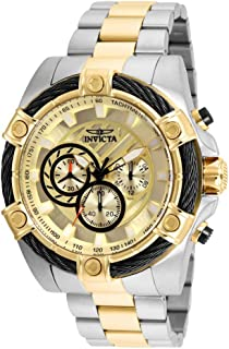 Men's Bolt Quartz Watch with Stainless-Steel Strap, Two Tone, 26 (Model: 25518)