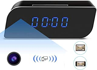 Ugetde P2P1080P Wifi Pinhole Reloj despertador oculto cámara Mini reloj espía cámara (vídeo en tiempo real por teléfonos móviles WiFi computadora)
